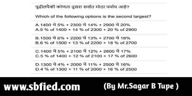 Maha Pariksha Portal Sample Question